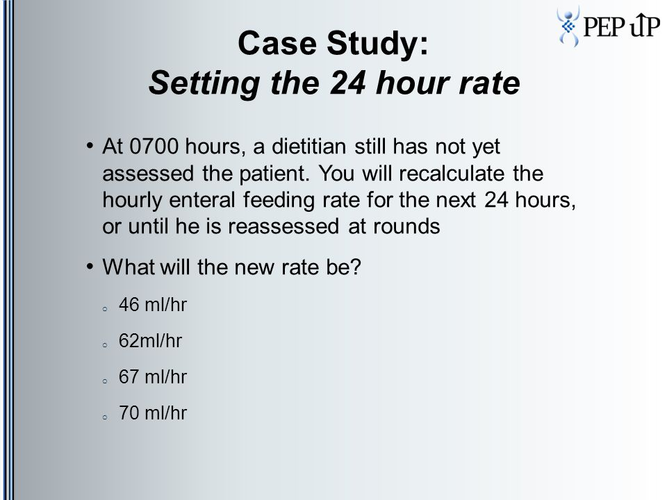 Case Study: Setting the 24 hour rate