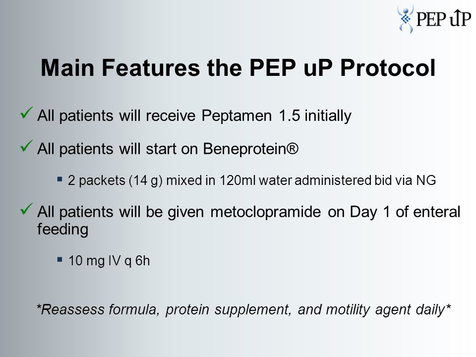 Main Features the PEP uP Protocol