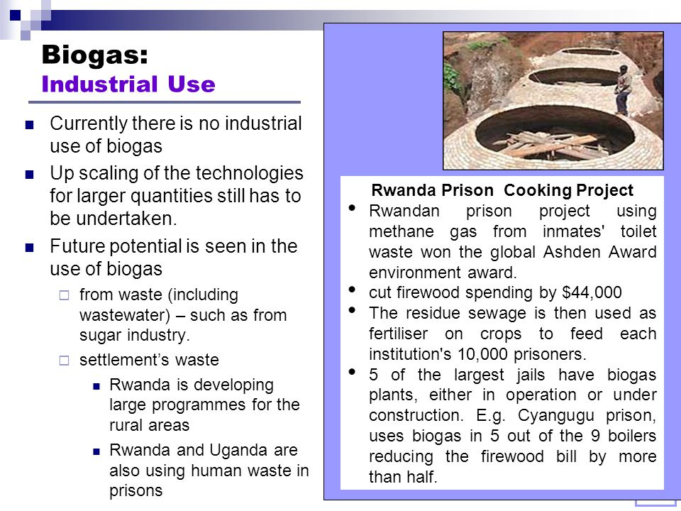 Biogas: Industrial Use