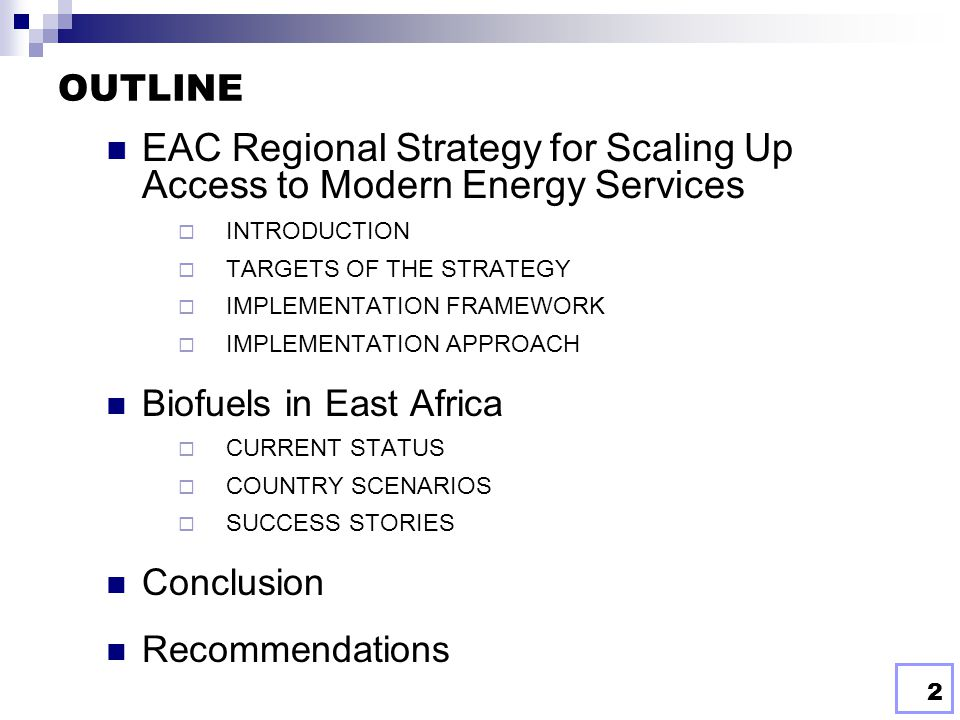 EAC Regional Strategy for Scaling Up Access to Modern Energy Services