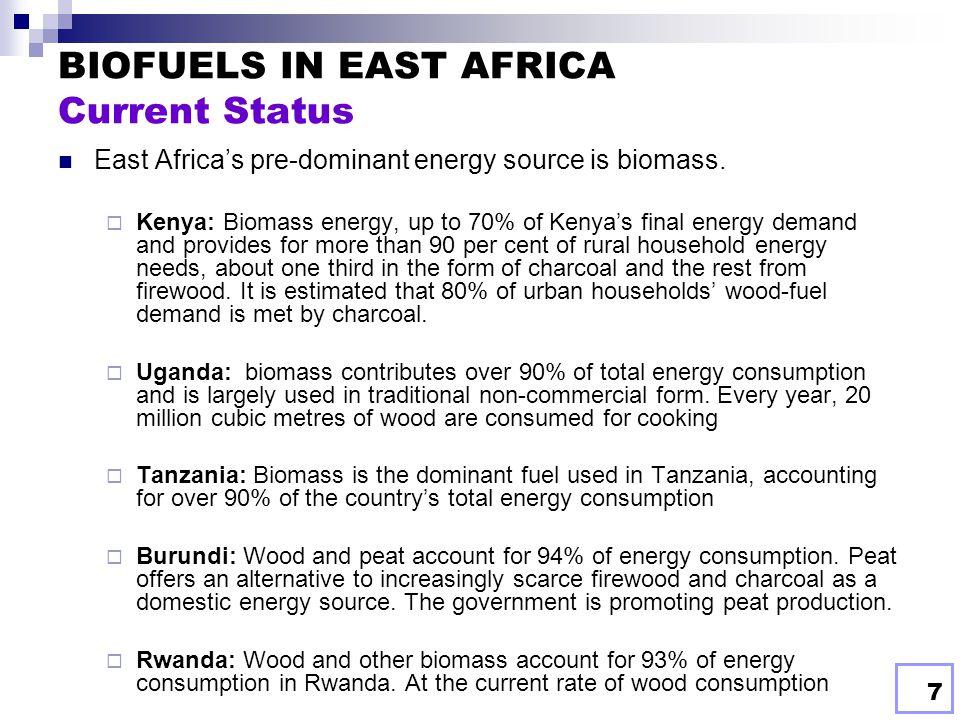 BIOFUELS IN EAST AFRICA Current Status