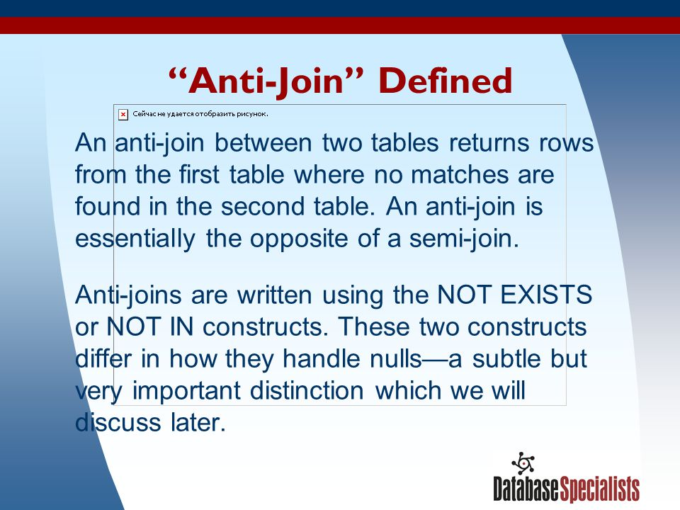 Anti-Join Defined