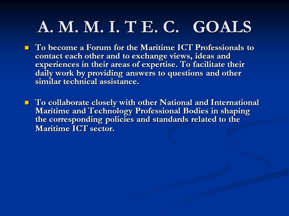 A. M. M. I. T E. C. GOALS