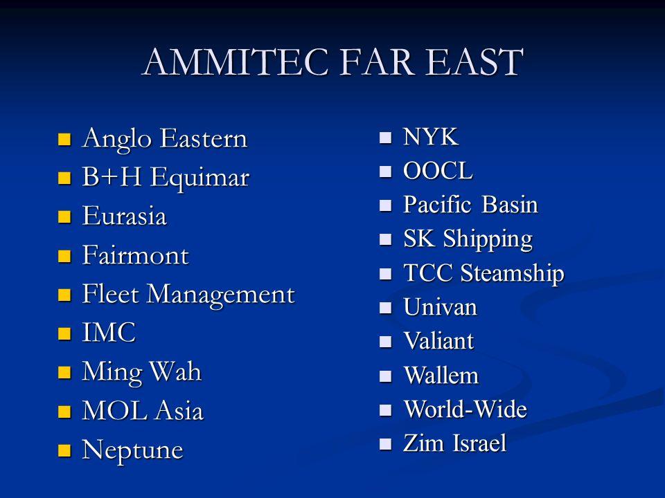 AMMITEC FAR EAST Anglo Eastern B+H Equimar Eurasia Fairmont