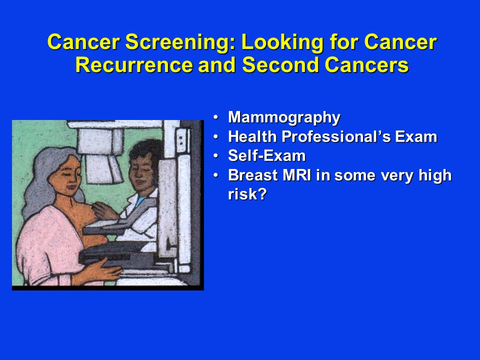 Cancer Screening: Looking for Cancer Recurrence and Second Cancers