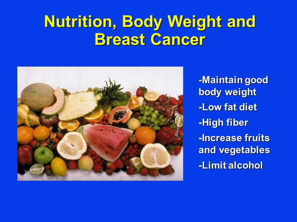 Nutrition, Body Weight and Breast Cancer