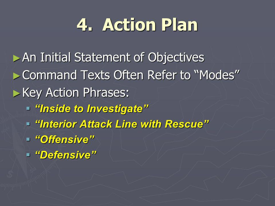 4. Action Plan An Initial Statement of Objectives