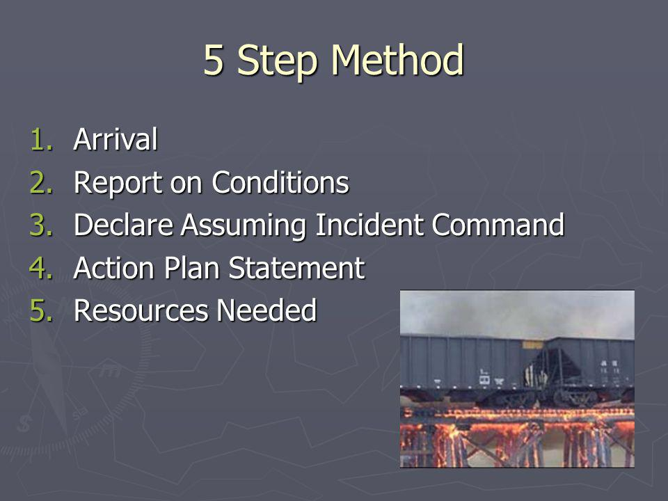 5 Step Method Arrival Report on Conditions