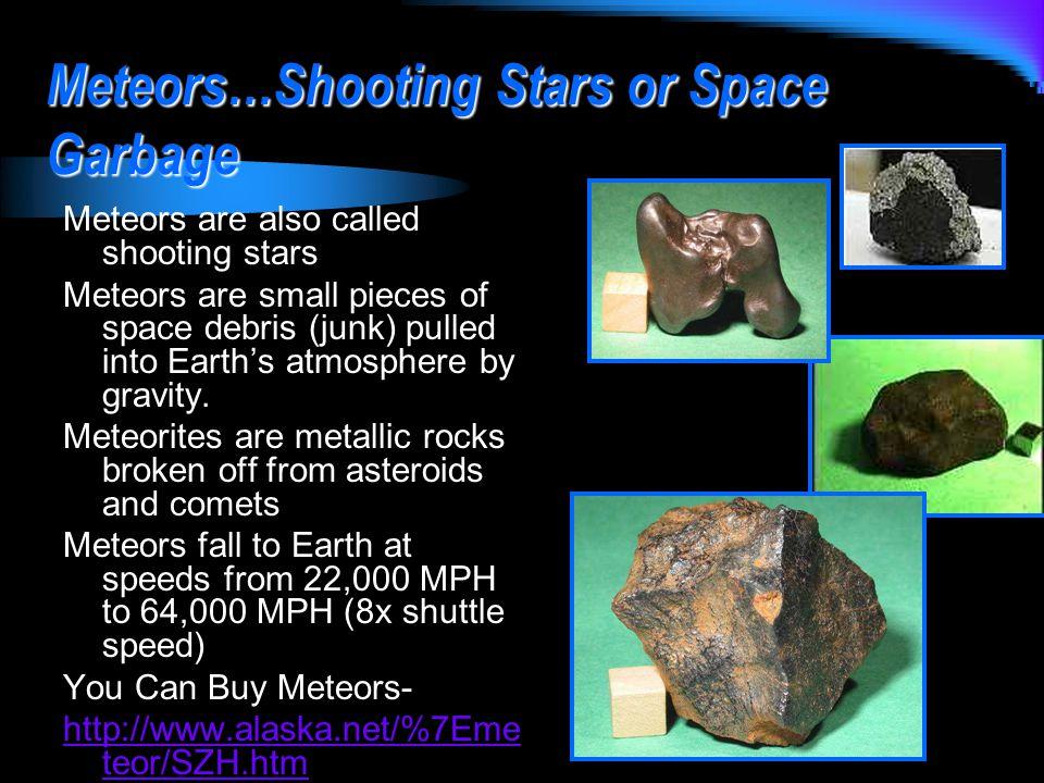 Meteors…Shooting Stars or Space Garbage