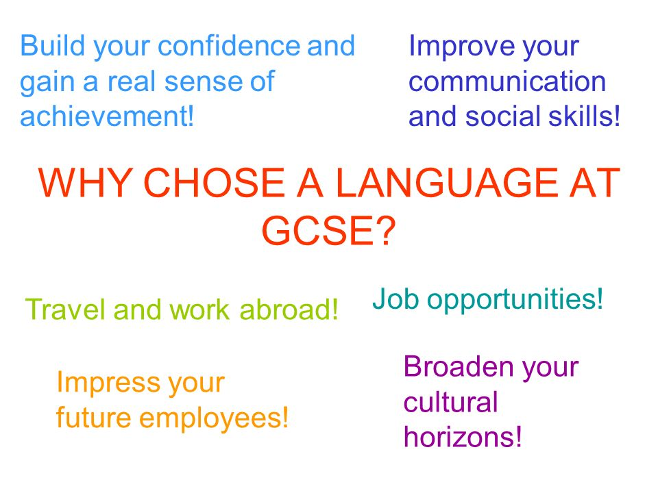 WHY CHOSE A LANGUAGE AT GCSE