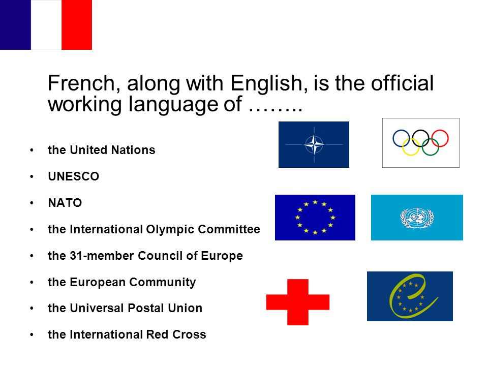 French, along with English, is the official working language of ……..