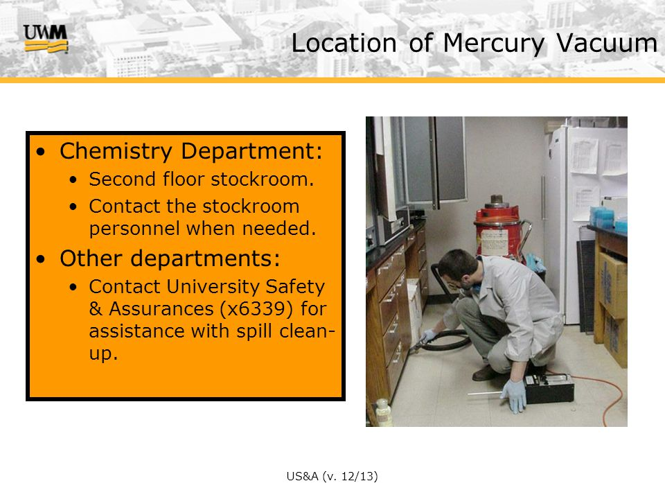 Location of Mercury Vacuum