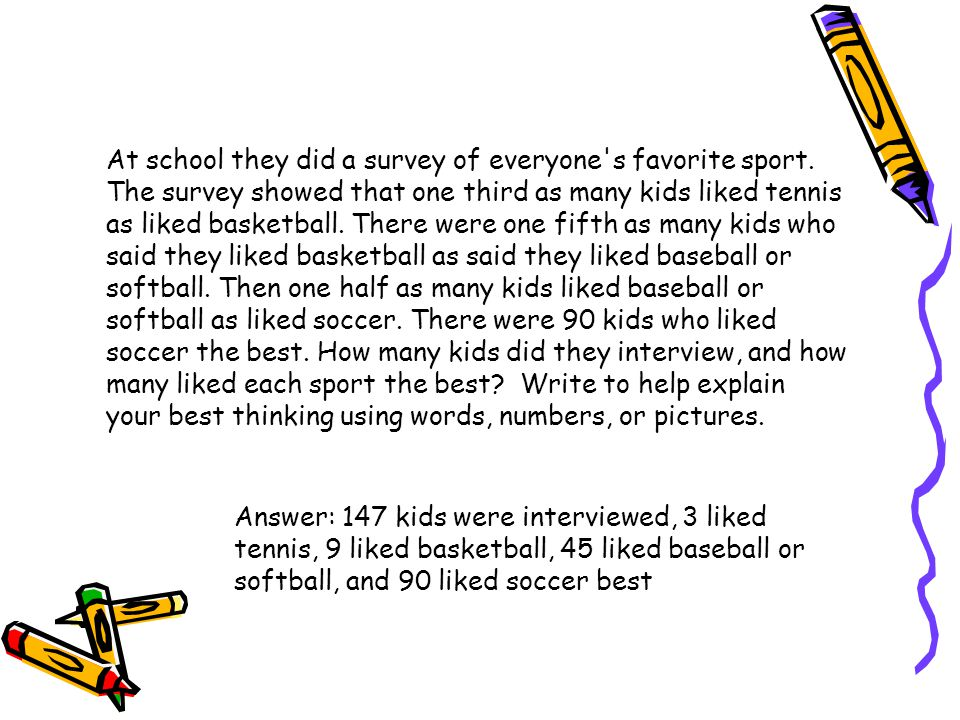 At school they did a survey of everyone s favorite sport
