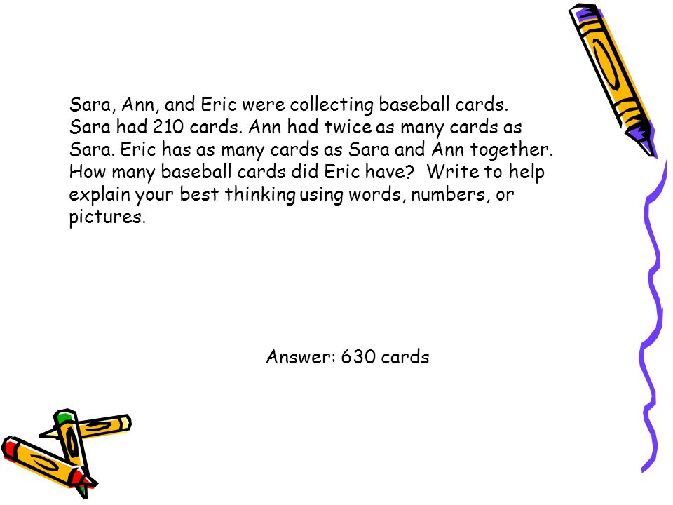 Sara, Ann, and Eric were collecting baseball cards. Sara had 210 cards