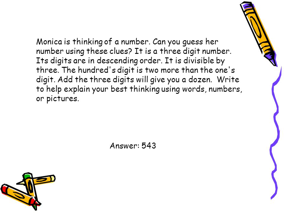 Monica is thinking of a number