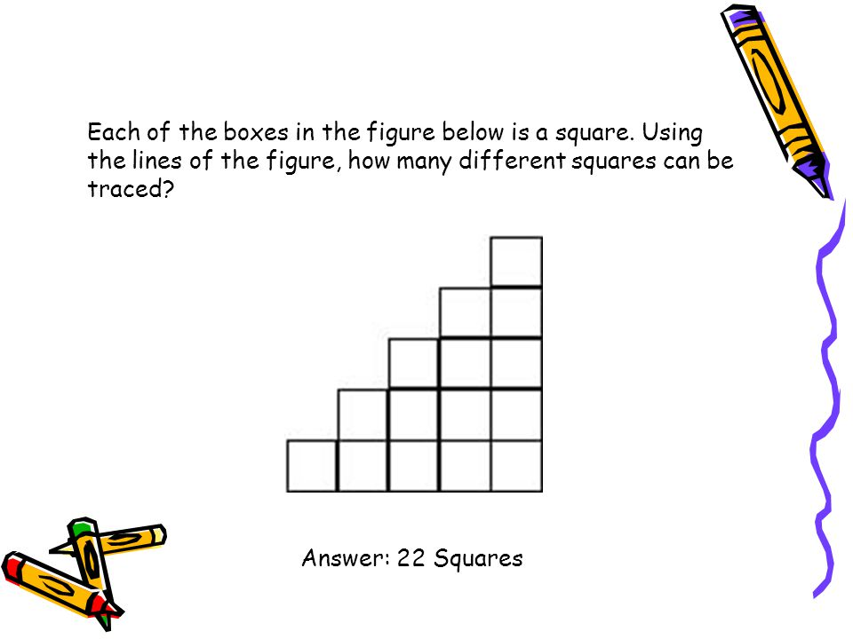 Each of the boxes in the figure below is a square