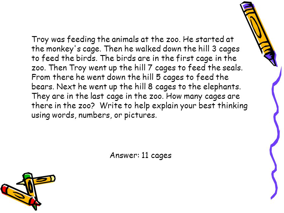 Troy was feeding the animals at the zoo