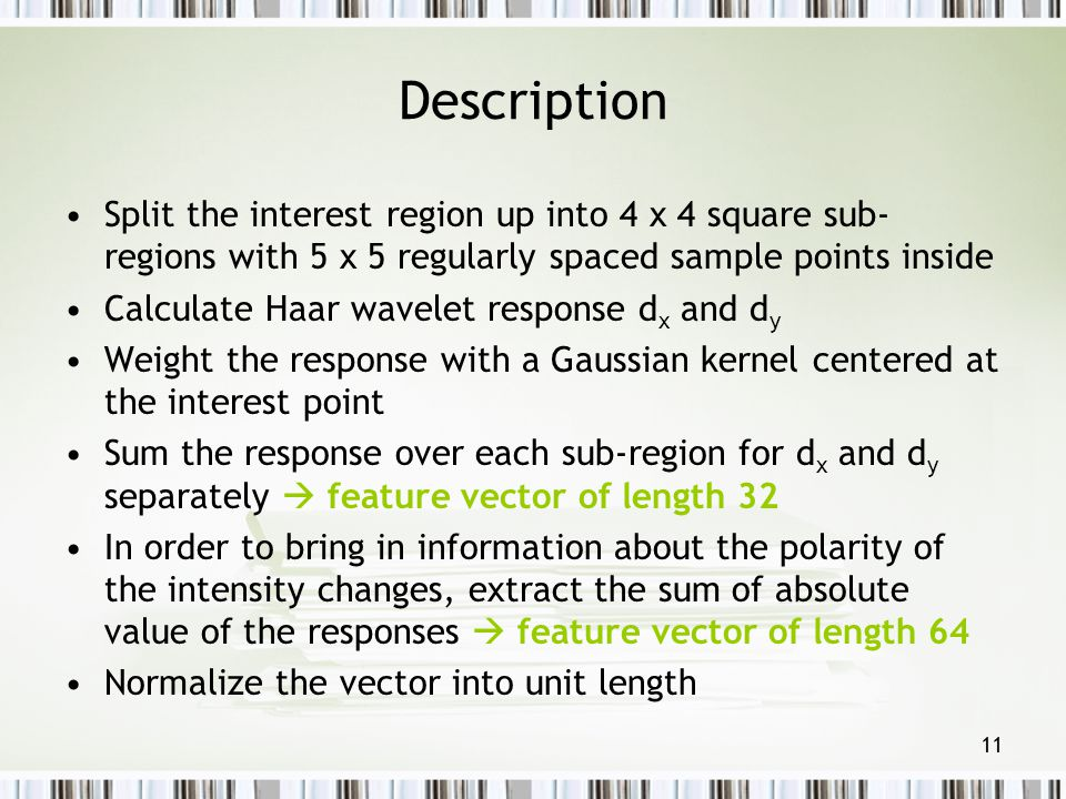 Description Split the interest region up into 4 x 4 square sub-regions with 5 x 5 regularly spaced sample points inside.