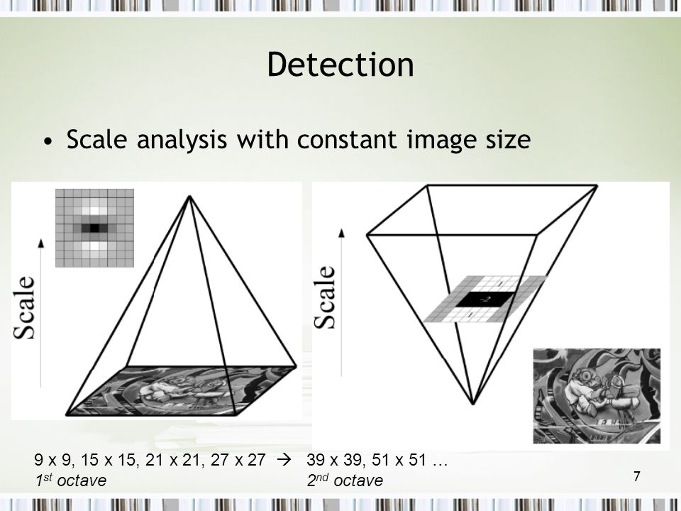 Detection Scale analysis with constant image size