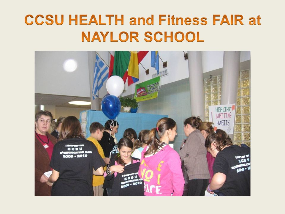 CCSU HEALTH and Fitness FAIR at NAYLOR SCHOOL