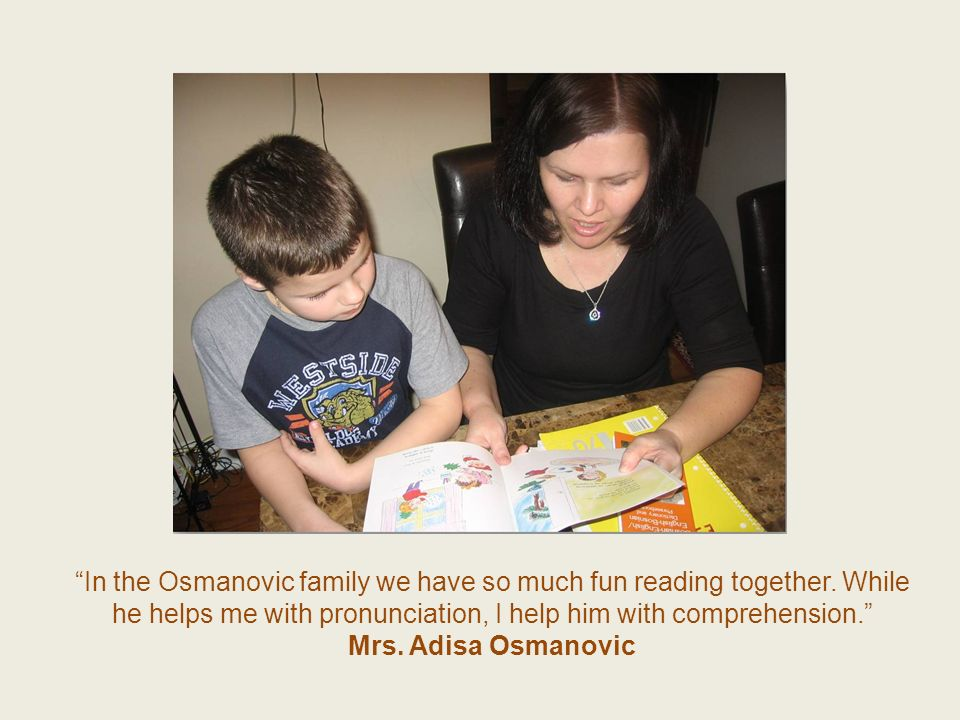 In the Osmanovic family we have so much fun reading together