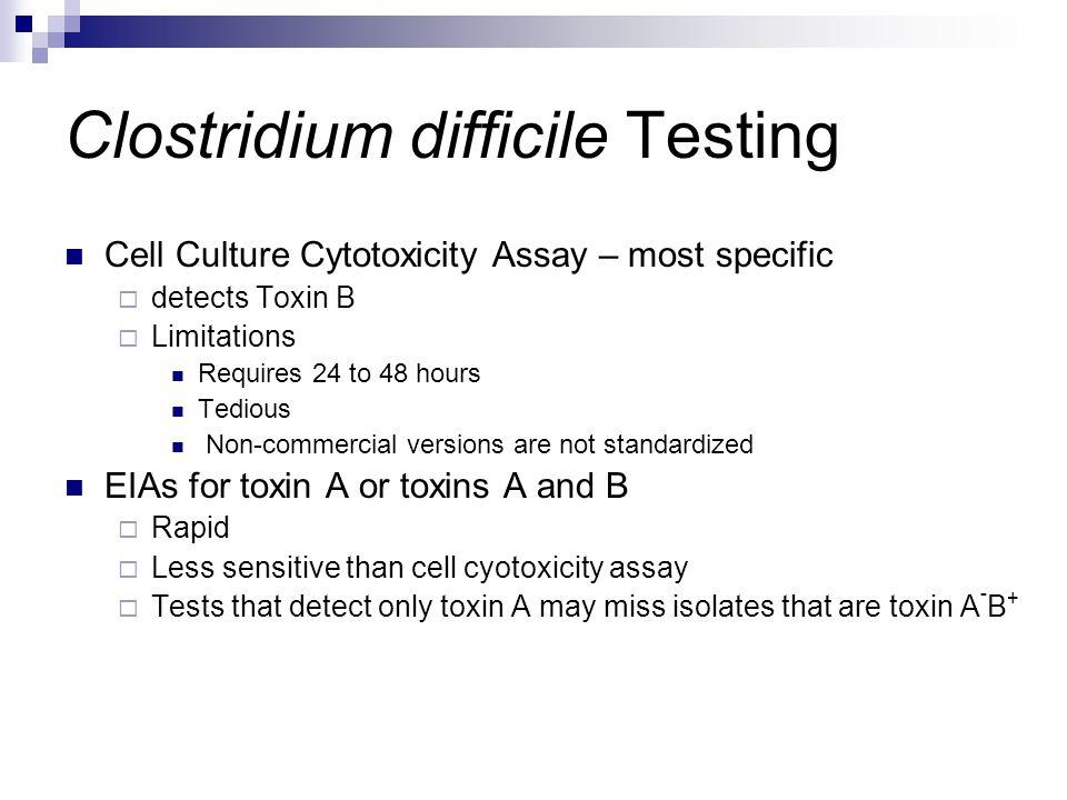 Clostridium difficile Testing