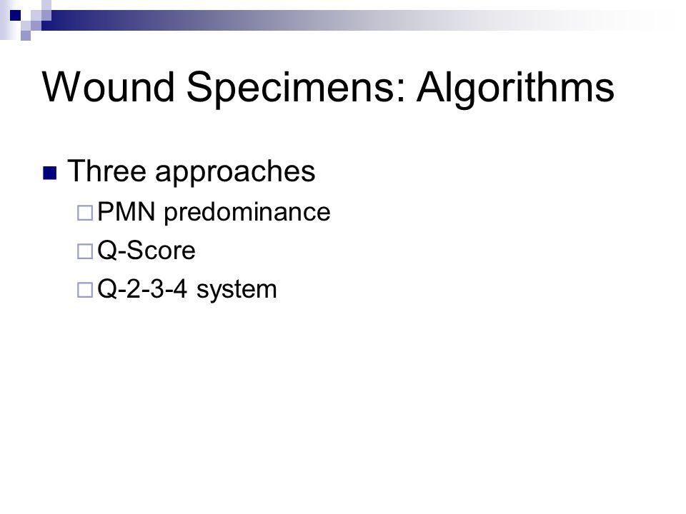 Wound Specimens: Algorithms