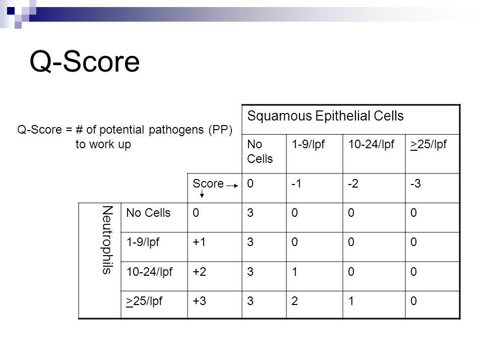 Q-Score Squamous Epithelial Cells Neutrophils