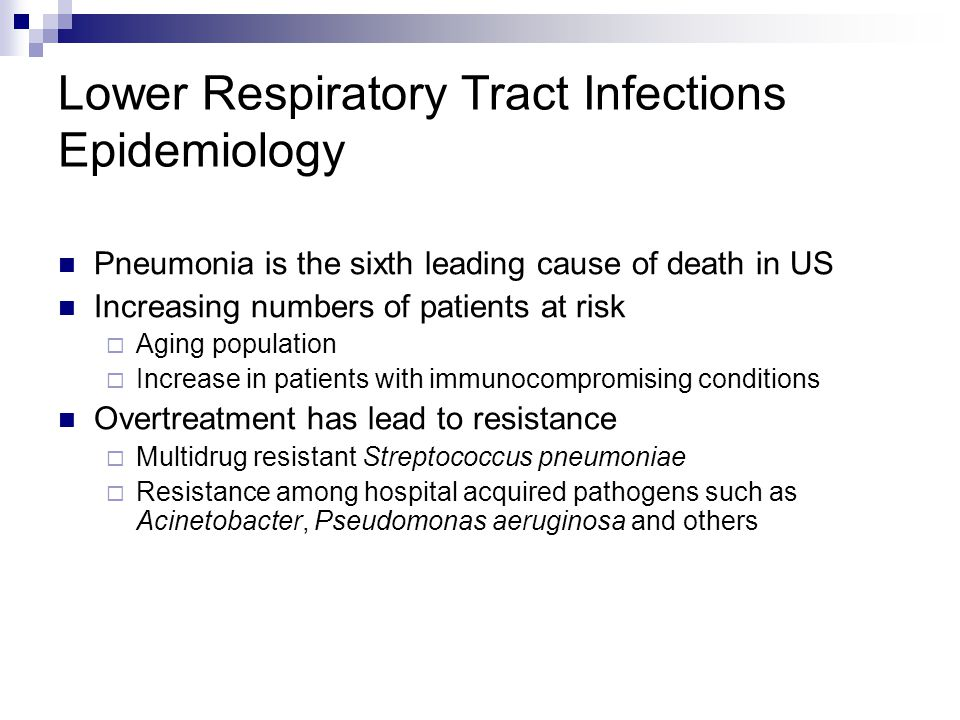 Lower Respiratory Tract Infections Epidemiology