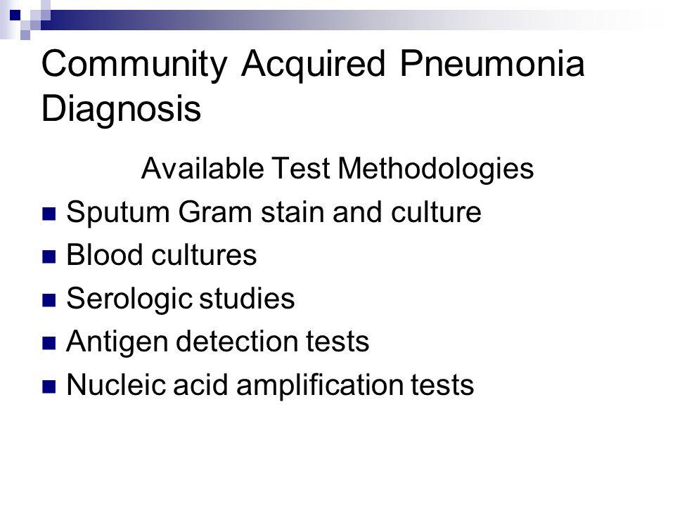 Community Acquired Pneumonia Diagnosis