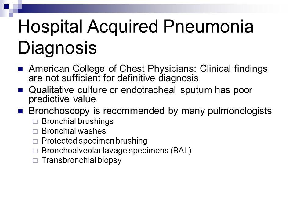 Hospital Acquired Pneumonia Diagnosis