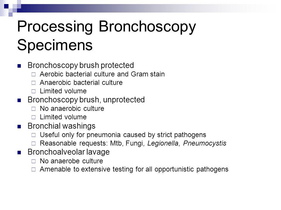 Processing Bronchoscopy Specimens