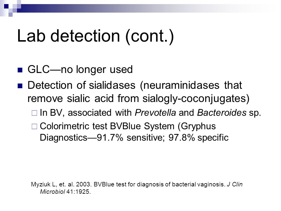 Lab detection (cont.) GLC—no longer used