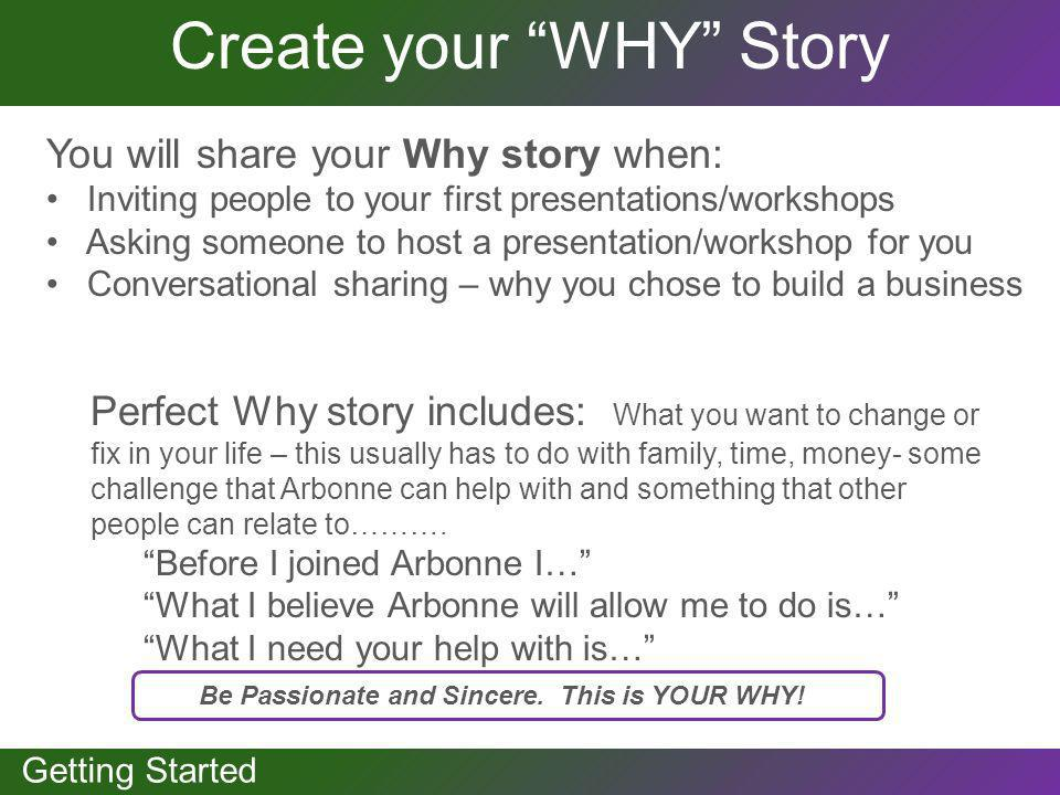 Create your WHY Story