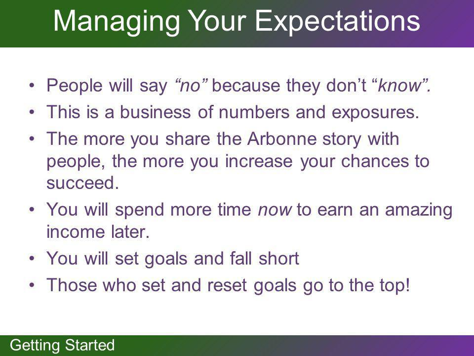 Managing Your Expectations