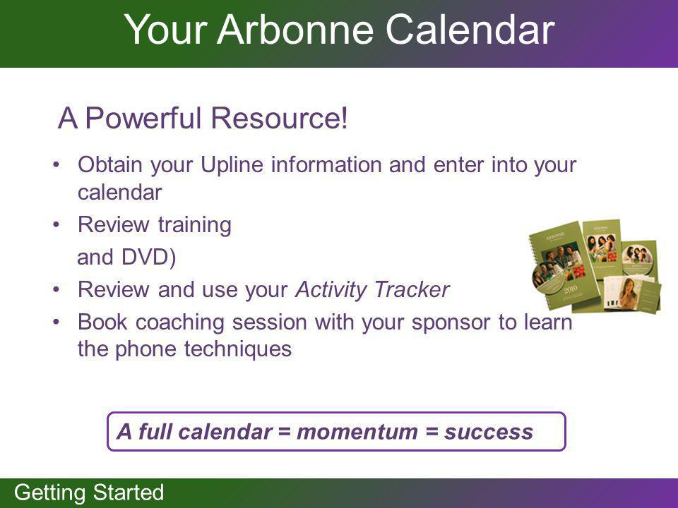 Your Arbonne Calendar A Powerful Resource!