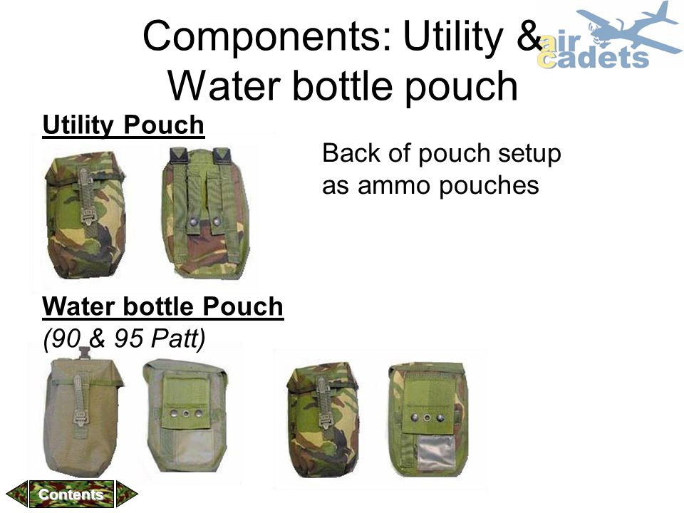 Components: Utility & Water bottle pouch