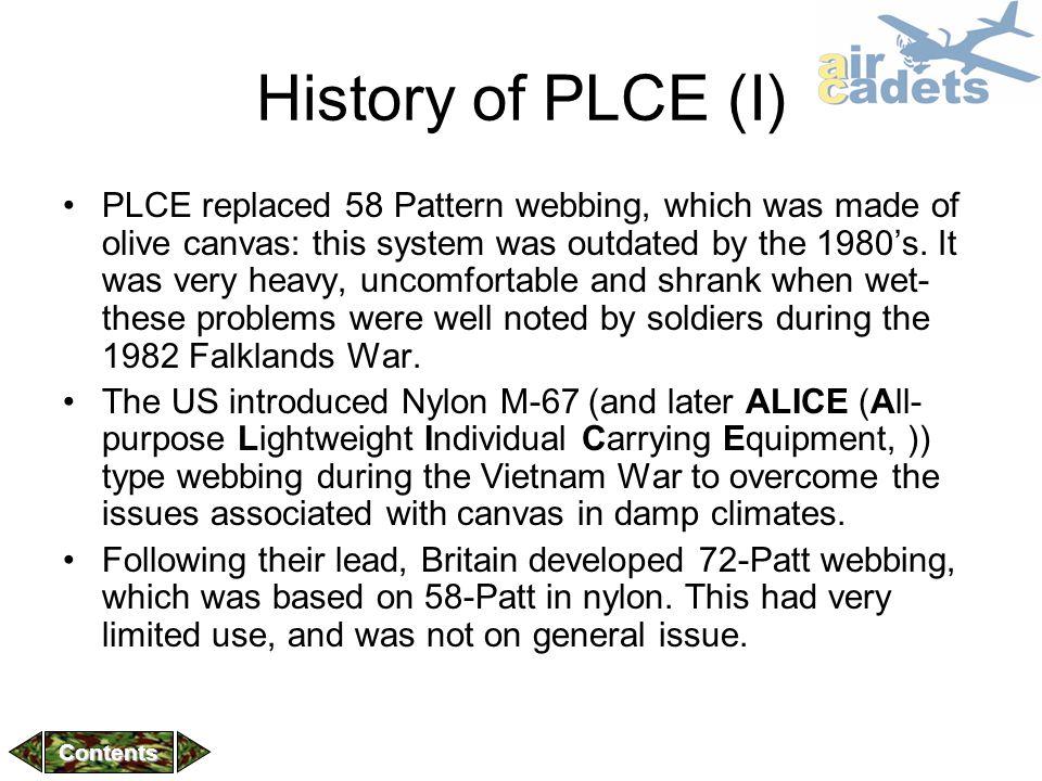 History of PLCE (I)
