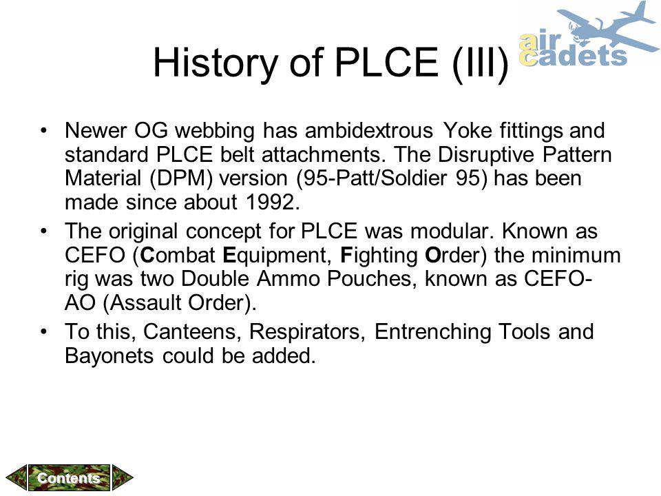 History of PLCE (III)