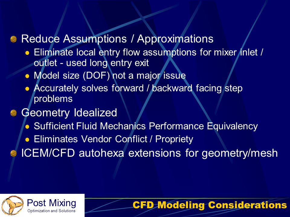 CFD Modeling Considerations