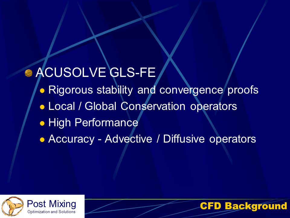 ACUSOLVE GLS-FE Rigorous stability and convergence proofs