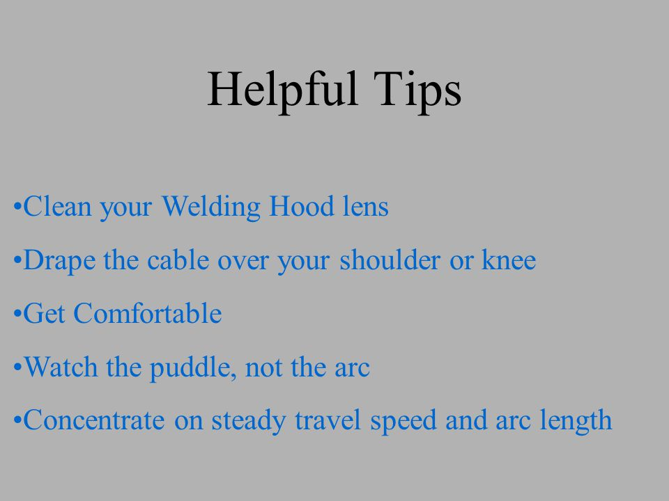 Helpful Tips Clean your Welding Hood lens