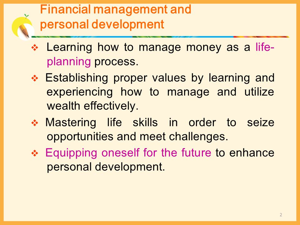Financial management and personal development