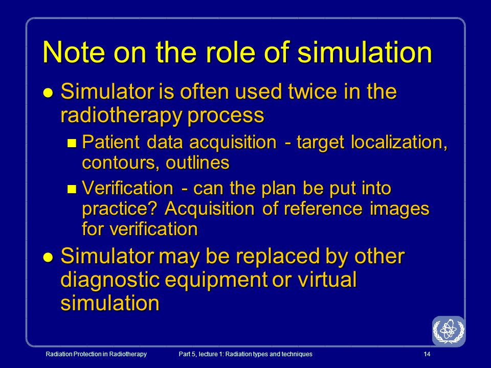 Note on the role of simulation