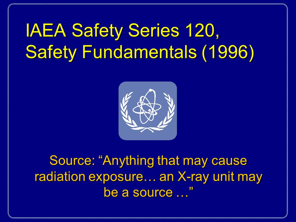 IAEA Safety Series 120, Safety Fundamentals (1996)