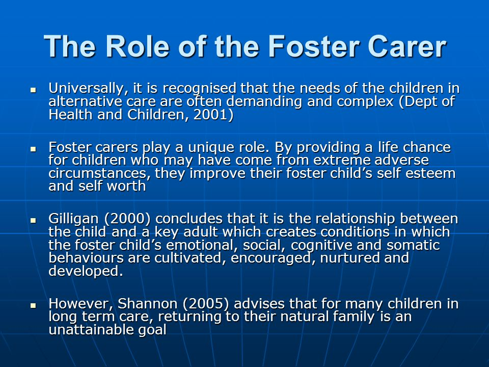 The Role of the Foster Carer