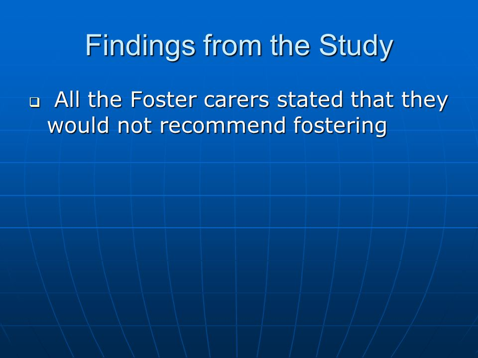 Findings from the Study