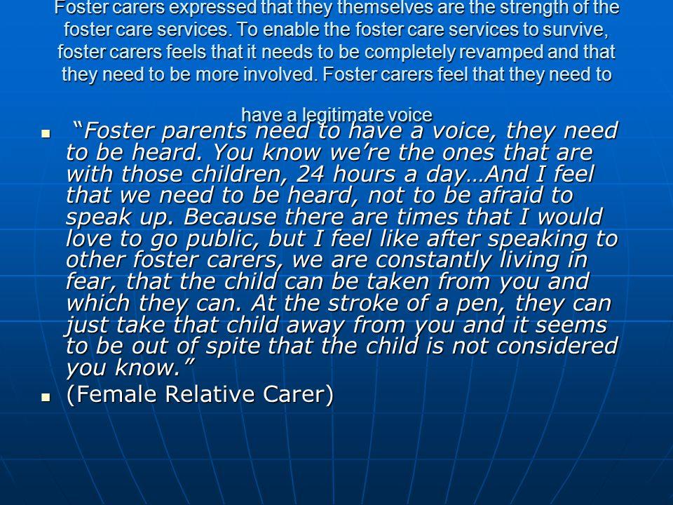 (Female Relative Carer)