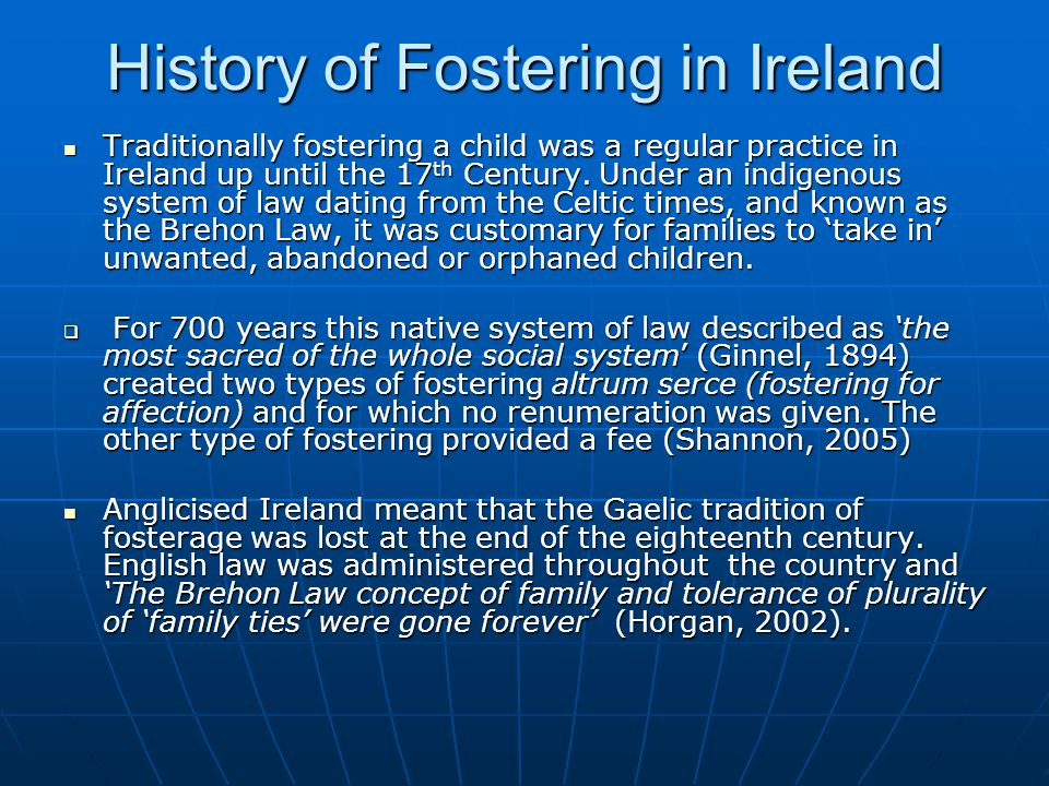 History of Fostering in Ireland
