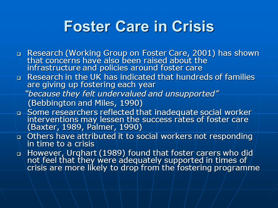 Foster Care in Crisis